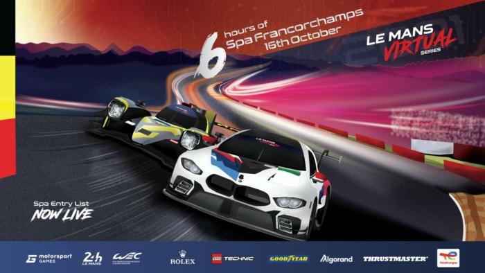 Le Mans Virtual Spa Entry List Revealed